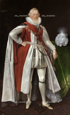 HIP-S-000267-2802 - William Knollys, 1st Earl of Banbury, c1615-c1620. Painting in Kenwood House, London, from the Suffolk Collection - Historic England Archive / Heritage Images /Alinari Archives, Florence