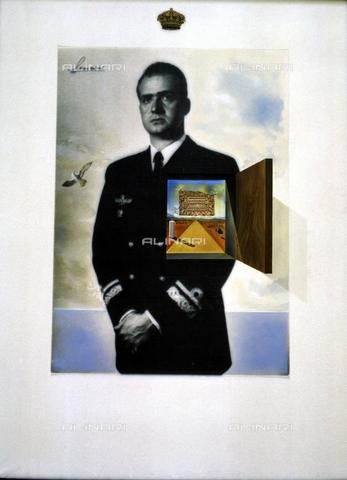 IFA-S-AAA005-7816 - Il principe dei sogni, fotomontaggio e olio, Salvador Dalì (1904-1989), Palazzo Zarzuela, Madrid - Index/Archivi Alinari, Firenze