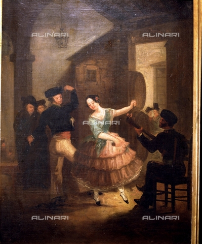IFA-S-AAA005-7818 - The dance of the lamp, oil on canvas, Rodriguez Jimenez, Juan (1765-1830), Museo Romantico, Madrid - Index/Alinari Archives, Florence