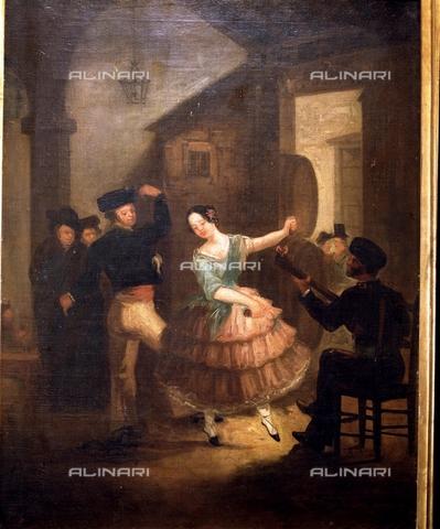 IFA-S-AAA005-7818 - La danza della lampada, olio su tela, Rodriguez Jimenez, Juan (1765-1830), Museo Romantico, Madrid - Index/Archivi Alinari, Firenze