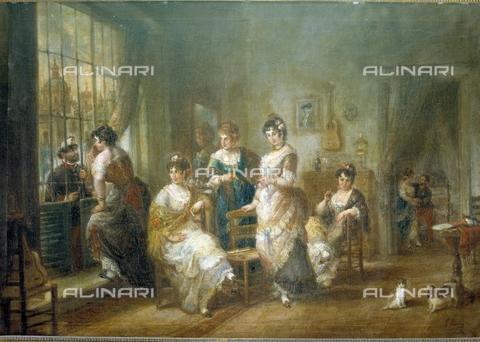 IFA-S-AAA005-7823 - Scena galante, olio su tela, José Maràa Romero (1815-1880), Collezione Privata - Index/Archivi Alinari, Firenze