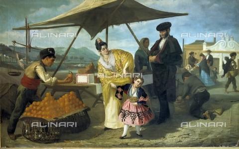 IFA-S-AAA005-7824 - Vendita di arance, olio su tela, Federico Maria Eder y Gattens (1830-1905), Collezione Privata - Index/Archivi Alinari, Firenze