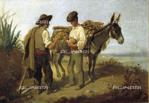 IFA-S-AAA005-7825 - Taglio del melone, olio su tela, Cabral Bejarano, Manuel (1827-1890), Collezione Privata - Index/Archivi Alinari, Firenze