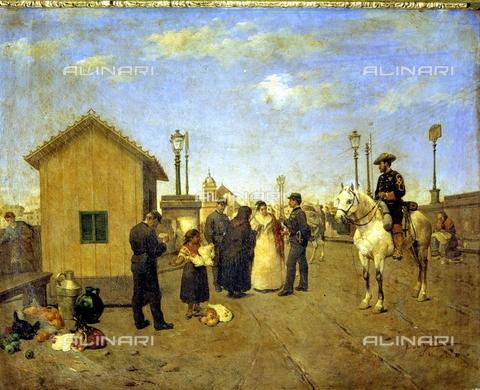 IFA-S-AAA005-7826 - Vendita di prodotti alimentari, olio su tela, Vega, José de (1827-1896), Collezione Privata - Index/Archivi Alinari, Firenze