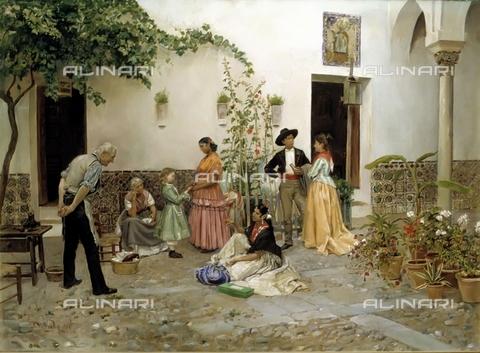 IFA-S-AAA005-7827 - La Fortuna, olio su tela, Vega Pedro de (1846-1890), Sammer Galleries - Index/Archivi Alinari, Firenze