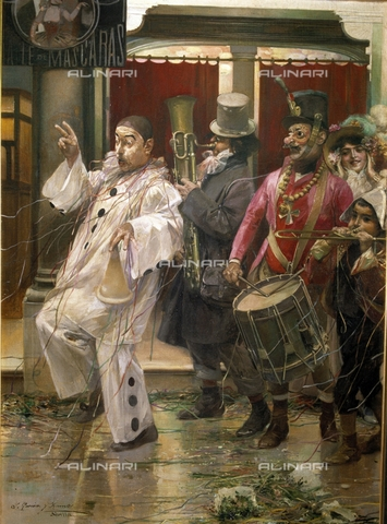 IFA-S-AAA005-7831 - Carnival in Seville, oil on canvas, García y Ramos José (1852-1912), Private Collection - Index/Alinari Archives, Florence
