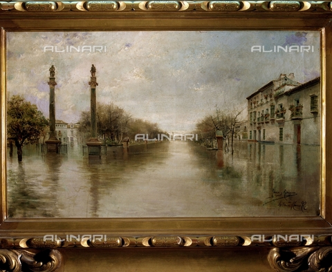 IFA-S-AAA005-7832 - Flood in the Hercules avenue in Seville, oil on canvas, Garcia Rodriguez Manuel (1863-1925), Private Collection - Index/Alinari Archives, Florence