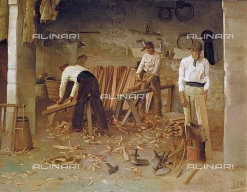 IFA-S-AAA005-7835 - Cooperation, oil on canvas, Villar Navarro, Rafael del (active in the 19th century), Bodegas Osborne, Cádiz - Index/Alinari Archives, Florence