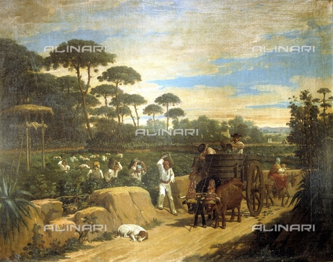 IFA-S-AAA005-7847 - Harvest, oil on canvas, Dominguez Becquer Joaquin (1817-1879), Private Collection - Index/Alinari Archives, Florence