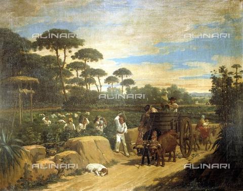 IFA-S-AAA005-7847 - Vendemmia, olio su tela, Dominguez Becquer Joaquin (1817-1879), Collezione Privata - Index/Archivi Alinari, Firenze