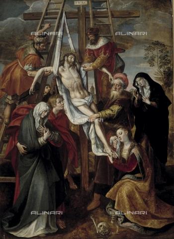 IFA-S-AAA005-7950 - Deposition, oil on canvas, Maarten de Vos (1532-1603), Real Academia de Bellas Artes de San Fernando, Madrid - Index/Alinari Archives, Florence