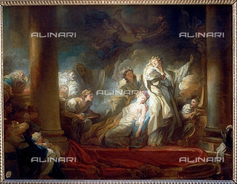 IFA-S-AAA005-7952 - Il Sommo Sacerdote Coresus si sacrifica per salvare Callirhoe, olio su tela, Fragonard, Jean Honoré (1732-1806), Real Academia de Bellas Artes de San Fernando, Madrid - Index/Archivi Alinari, Firenze