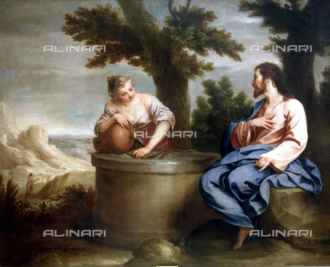 IFA-S-AAA005-7954 - Gesù e la Samaritana, olio su tela, Alonso Cano (1601-1667), Real Academia de Bellas Artes de San Fernando, Madrid - Index/Archivi Alinari, Firenze