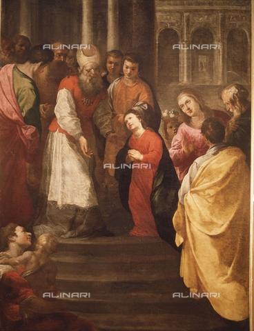 IFA-S-AAA005-7960 - Presentazione al Tempio, olio su tela, Herrera Francisco de (1627-1685), Real Academia de Bellas Artes de San Fernando, Madrid - Index/Archivi Alinari, Firenze