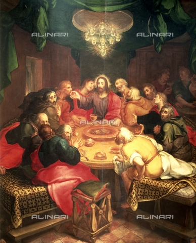 IFA-S-AAA005-7961 - Ultima Cena, olio su tavola, Veen, Otto van (1556-1629), Real Academia de Bellas Artes de San Fernando, Madrid - Index/Archivi Alinari, Firenze