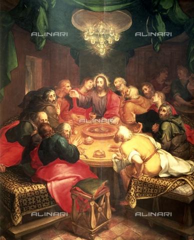 IFA-S-AAA005-7961 - Last Supper, oil on wood, Veen, Otto van (1556-1629), Real Academia de Bellas Artes de San Fernando, Madrid - Index/Alinari Archives, Florence