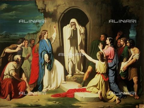 IFA-S-AAA005-7967 - Resurrezione di Lazzaro, olio su tela, Casado del Alisal, José (1832-1886), Real Academia de Bellas Artes de San Fernando, Madrid - Index/Archivi Alinari, Firenze