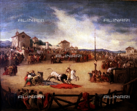 IFA-S-AAA005-7968 - Bullfight, oil on canvas, Lucas Padilla, Eugenio (1824-1870), Real Academia de Bellas Artes de San Fernando, Madrid - Index/Alinari Archives, Florence