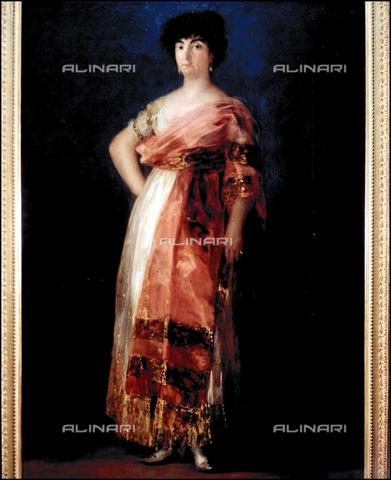 IFA-S-AAA005-7970 - Ritratto di Maria Fernandez detta La Tirana, olio su tela, Francisco de Goya Y Lucientes (1746-1828), Real Academia de Bellas Artes de San Fernando, Madrid - Index/Archivi Alinari, Firenze