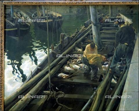 IFA-S-AAA005-7971 - Ritorno dalla pesca, olio su tela, Martànez Cubells, Enrique (1874-1947), Real Academia de Bellas Artes de San Fernando, Madrid - Index/Archivi Alinari, Firenze
