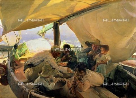 IFA-S-AAA005-7972 - Lunch on the boat, oil on canvas, Sorolla y Bastida, Joaquín (1863-1923), Real Academia de Bellas Artes de San Fernando, Madrid - Index/Alinari Archives, Florence