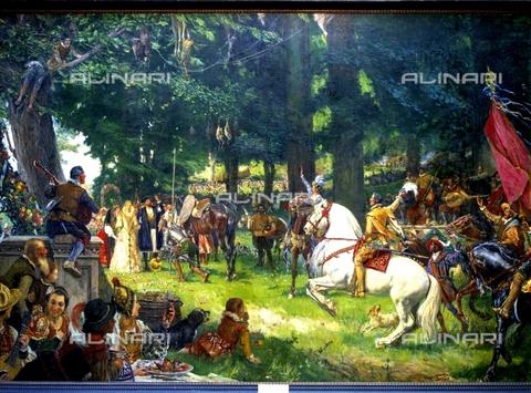 IFA-S-AAA005-7975 - The marriage of Camacho, oil on canvas, Moreno Carbonero (1858-1942), Real Academia de Bellas Artes de San Fernando, Madrid - Index/Alinari Archives, Florence