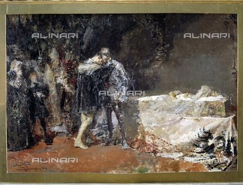 IFA-S-AAA005-7976 - La conversione del duca di Gandia, bozzetto, Moreno Carbonero (1858-1942), Real Academia de Bellas Artes de San Fernando, Madrid - Index/Archivi Alinari, Firenze
