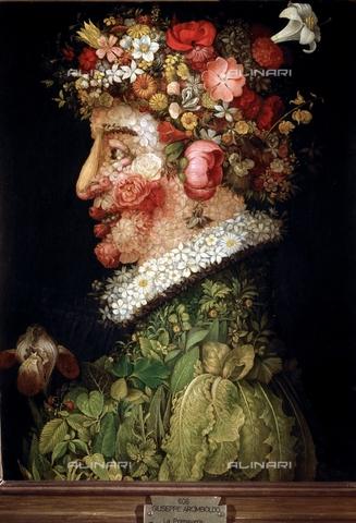 IFA-S-AAA005-7982 - La primavera, olio su tavola, Giuseppe Arcimboldo (1527-1593), Real Academia de Bellas Artes de San Fernando, Madrid - Index/Archivi Alinari, Firenze