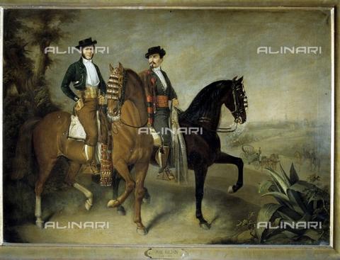 IFA-S-AAA005-8392 - Ritratto di due uomini a cavallo, olio su tela, Roldan, Jose (1802-1874), Museo de Bellas Artes, Granada - Index/Archivi Alinari, Firenze