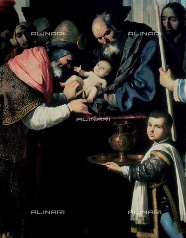 IFA-S-AAA005-8433 - Circumcision, detail, oil on canvas, Zurbarán, Francisco, de (1598-1664), Musée des Beaux-Arts, Grenoble - Index/Alinari Archives, Florence