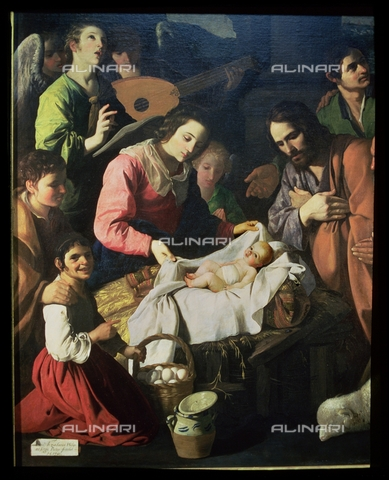IFA-S-AAA005-8434 - Adoration of the Shepherds, detail, oil on canvas, Zurbarán, Francisco, de (1598-1664), Musée des Beaux-Arts, Grenoble - Index/Alinari Archives, Florence