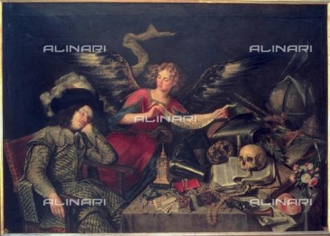 IFA-S-AAA005-8472 - Il sogno del cavaliere, olio su tela, Pereda, Antonio de (1608-1678), Real Academia de Bellas Artes de San Fernando, Madrid - Index/Archivi Alinari, Firenze