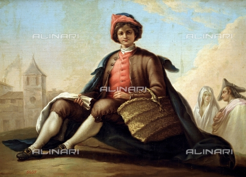 IFA-S-AAA005-8513 - Young man with a basket, oil on canvas, Bayeu Ramón (1746-1793), Prado Museum, Madrid - Index/Alinari Archives, Florence