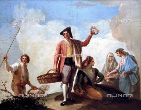IFA-S-AAA005-8514 - Venditori di roscas e ventagli, olio su tela, Bayeu Ramà³n (1746-1793), Museo del Prado, Madrid - Index/Archivi Alinari, Firenze