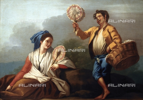 IFA-S-AAA005-8515 - Fan seller, oil on canvas, Castillo, José del (1737-1793), Prado Museum, Madrid - Index/Alinari Archives, Florence