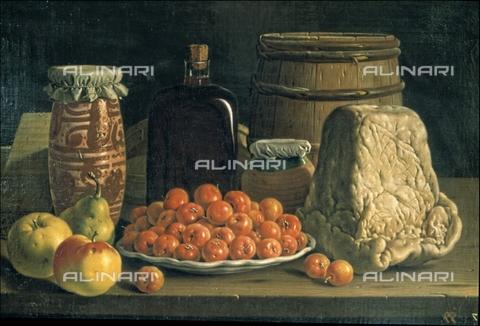 IFA-S-AAA005-8518 - Natura morta con ciotola di ciliegie e formaggio, olio su tela, Luis Egidio Meléndez o Menendez (1716–1780), Museo del Prado, Madrid - Index/Archivi Alinari, Firenze