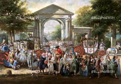 IFA-S-AAA005-8521 - Festa nel giardino botanico, olio su tela, Luis Paret y Alcazar (1746-1799), Museo Là¡zaro Galdiano, Madrid - Index/Archivi Alinari, Firenze