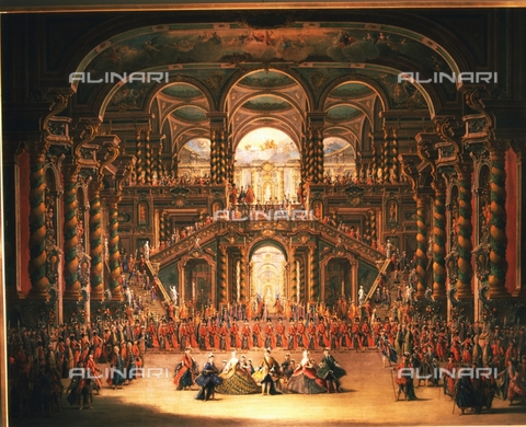 IFA-S-AAA005-8525 - Party at the palace, oil on canvas, Battaglioli, Francesco (1722-1790), Real Academia de Bellas Artes de San Fernando, Madrid - Index/Alinari Archives, Florence