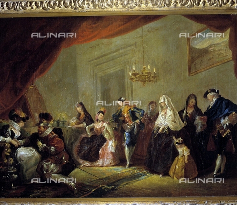 IFA-S-AAA005-8526 - Rehearsal of a comedy, oil on canvas, Luis Paret y Alcazar (1746-1799), Prado Museum, Madrid - Index/Alinari Archives, Florence