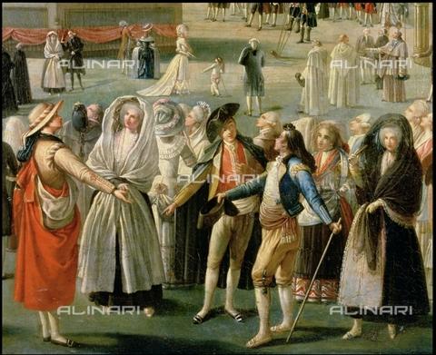 IFA-S-AAA005-8534 - La Salita nel cielo di una Mongolfiera ad Aranjuez, particolare, olio su tela, Antonio Carnicero (1748-1814), Museo del Prado, Madrid - Index/Archivi Alinari, Firenze