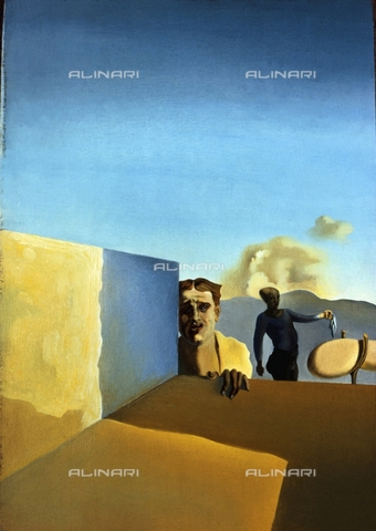 IFA-S-AAA006-6806 - Il barbiere angosciato dalla persistenza di bel tempo, olio su tela, Salvador Dali (1904-1989), Perls Galleries, New York - Index/Archivi Alinari, Firenze