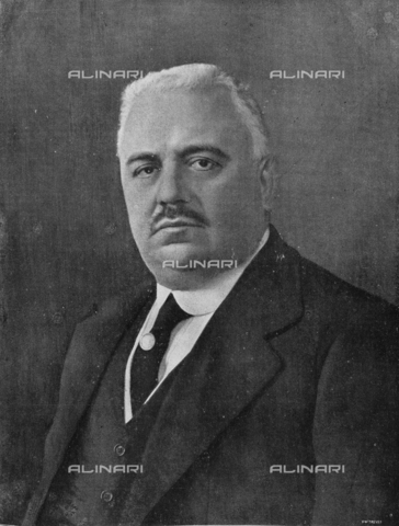 """IIB-S-091926-0637 - Portrait of Francesco Saverio Nitti (1868-1953), prime Minister of the Italy Kingdom, photograph by Treves taken from the magazine """"L'Illustration Italian"""" of 29 june 1919, page 637 - Date of photography: 1919 - Library of Fratelli Alinari Museum of the History of Photography, Florence"""