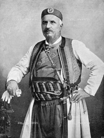 IIB-S-092110-0259 - A three-quarter length portrait of Nicholas I, King of Montenegro, wearing a traditional costume - Date of photography: 1918 ca. - Library of Fratelli Alinari Museum of the History of Photography, Florence