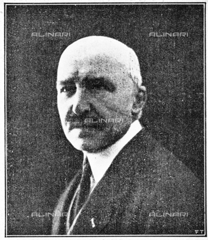 """IIB-S-092226-738A - The mayor of Florence Antonio Garbasso (1871-1933) president of the Italian Painting Exhibition of the seventeenth and eighteenth centuries at Palazzo Pitti. Photograph taken from the magazine """"L 'Illustrazione italiana"""" of 25 June 1922, n. 26, page 738 - Date of photography: 1921-1922 - Library of Fratelli Alinari Museum of the History of Photography, Florence"""