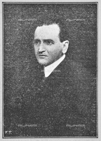 """IIB-S-092226-739D - The art critic Nello Tarchiani (1878-1941), member of the Executive Commission of the Italian Painting Exhibition of the seventeenth and eighteenth centuries at Palazzo Pitti. Photograph taken from the magazine """"L 'Illustrazione italiana"""" of 25 June 1922, n. 26, page 739 - Date of photography: 1921-1922 - Library of Fratelli Alinari Museum of the History of Photography, Florence"""