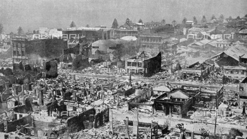 IIB-S-093111-0395 - Aerial view of the city of Napir in New Zealand, after the February 3, 1931 earthquake - Date of photography: 03/02/1931 - Library of Fratelli Alinari Museum of the History of Photography, Florence