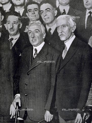IIB-S-093119-0693 - Portrait of Niceto Alcala, the first president of the Spanish Republic and of the Catalan politician, Francisco Macia - Date of photography: 05/1931 - Library of Fratelli Alinari Museum of the History of Photography, Florence