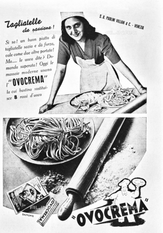 """IIB-S-094608-0V11 - Advertising of the oval of the S.A. plant Paolini Villani & C. Venice. Photography taken from the magazine """"The Italian Illustration"""" of 24 February 1946, n. 8, page 7 - Date of photography: 1946 - Library of Fratelli Alinari Museum of the History of Photography, Florence"""
