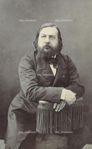 IMA-F-125998-0000 - Teophile Gautier, scrittore e poeta francese, fotografia di Felix Gaspard Nadar - Data dello scatto: 1865 ca. - Imagno/Archivi Alinari
