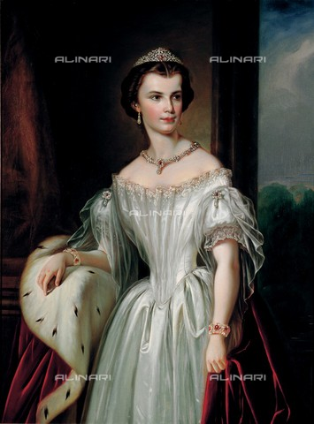 IMA-F-130465-0000 - Elizabeth (1837-1898), Empress of Austria, Queen of Hungary, oil on canvas, private collection - Gerhard Trumler / Imagno/Alinari Archives